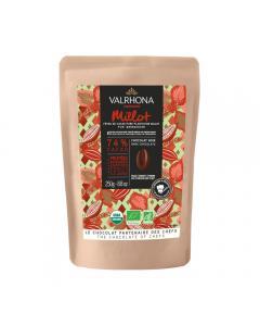 Dunkle Bio-Schokolade Millot 74% - 250 g